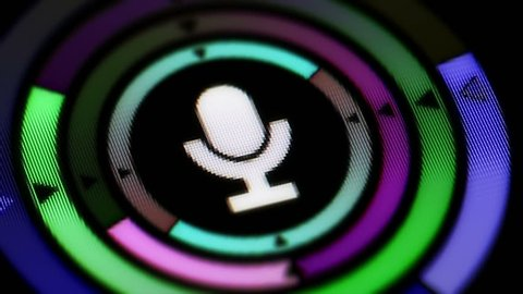 Microphone icon. Looping.