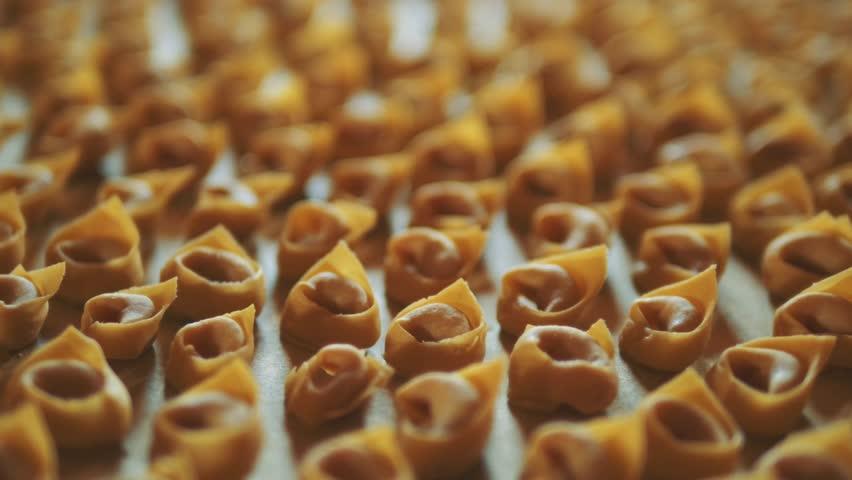 Tortellini, traditional italian handmade dish.