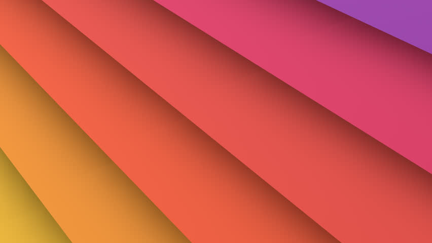 Material design animated background. Animated wallpaper of material design shapes and colors. Alpha channel