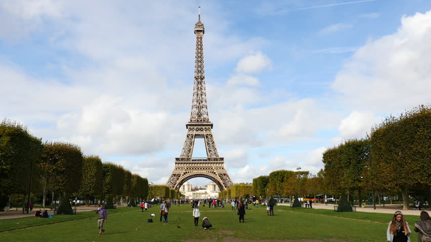 Time Lapse of the Eiffel Tower Daytime-  Paris France - Circa October 2015 | Shutterstock HD Video #15531658