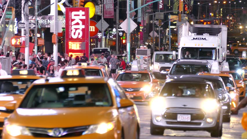 Bekannt NEW YORK CITY - MAY 22: Timelapse Of Times Square Traffic At Night  OV46