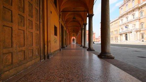 MODENA, ITALY - 30 MART 2016: Arch gallery, Roman architecture of Modena