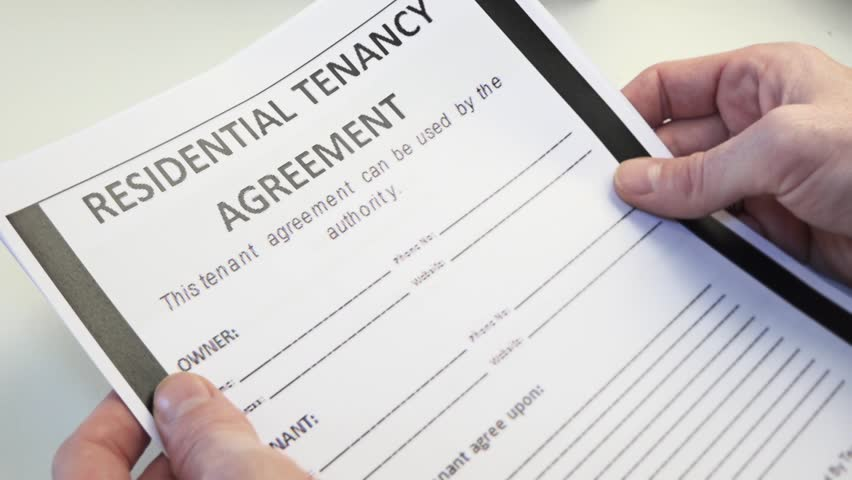 Residential Tenancy Agreement Form In Stock Footage Video 100