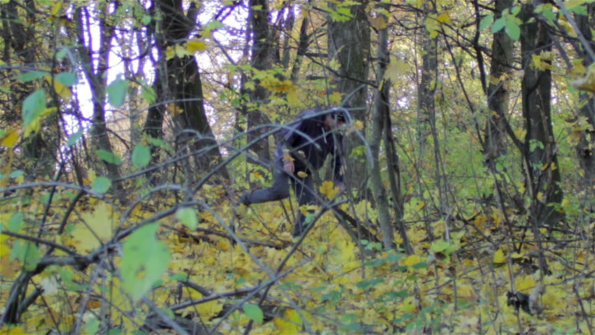 Spy The Man In The Woodsa Forest Spy Spying On Teen Boy Stock Footage Video 14462254 -4748