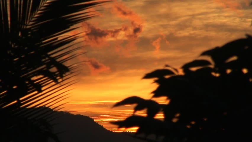Vivid sunset on a cloudy sky at Oriental Mindoro in the Philippines #158248