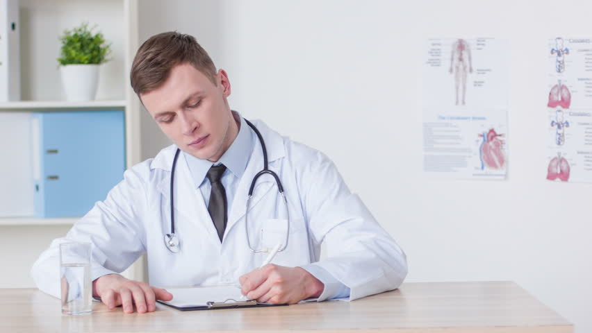 Professional Doctor Sitting At The Stock Footage Video -8547