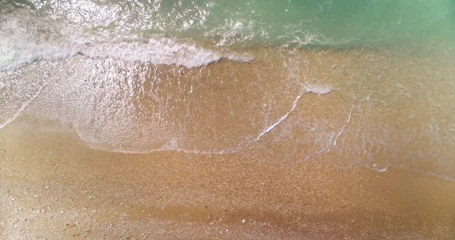 Beach Blue Sea Summer Sky Water Ocean Travel Vacation Tropical Wave Sand Sun Sunny Nature White Coast Paradise Sunlight Tourism Landscape Island Beauty Resort Relax Day Aerial Uhd 4K | Shutterstock HD Video #15917878