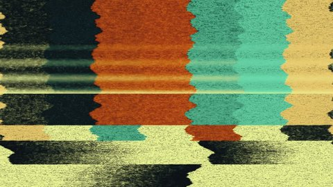 TV Noise 0998: TV color bars test card malfunction (Loop).