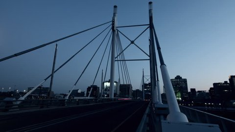 Timelapse of Nelson Mandela bridge at sunrise