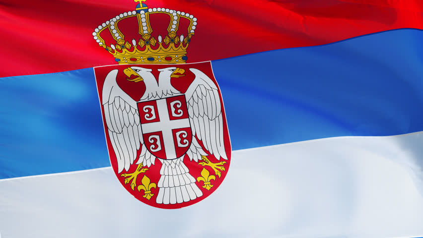 Flag Of Serbia With Fabric Structure; Looping Stock Footage Video ...