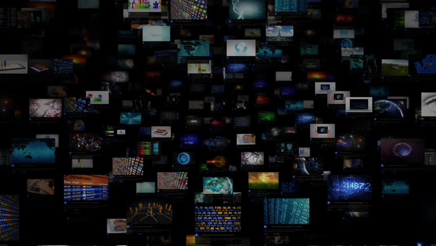 Video Wall Background. Sphere. Journey through video screens showing multiple themed videos. Loopable. Dolly. All videos in this animation are available in my portfolio.  | Shutterstock HD Video #15981469
