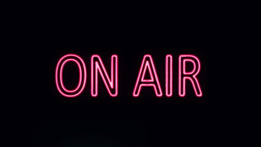 ON AIR Neon Sign Turning on | Shutterstock HD Video #16003711
