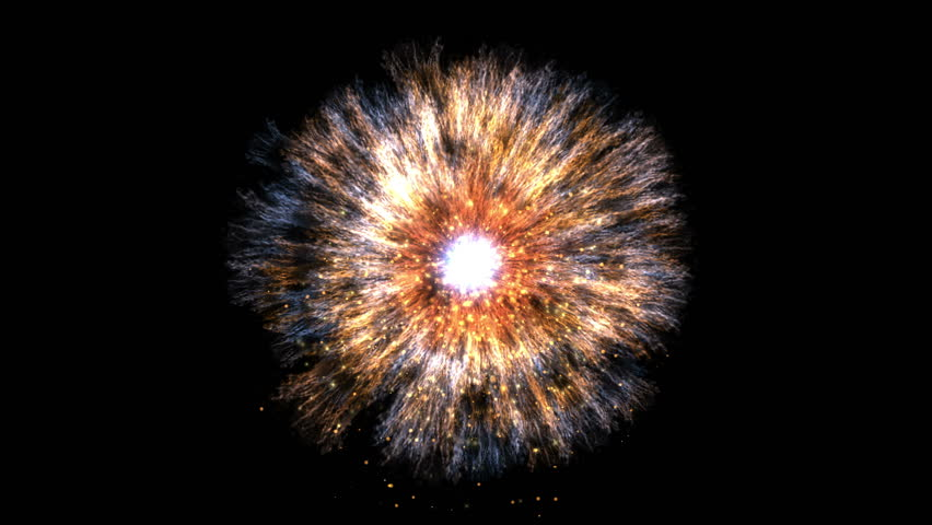 4k Fireworks energy particle firecracker explosion background,pupil eye,galaxy cluster explosion power science fiction space. 3898_4k