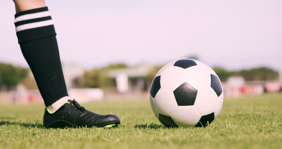 Football Player Kicking the Ball Stock Footage Video (100% Royalty ... 8e455b4a5d0