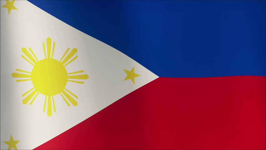 Loopable flag of philippines philippine official flag gently waving in the wind highly - Philippine flag images ...