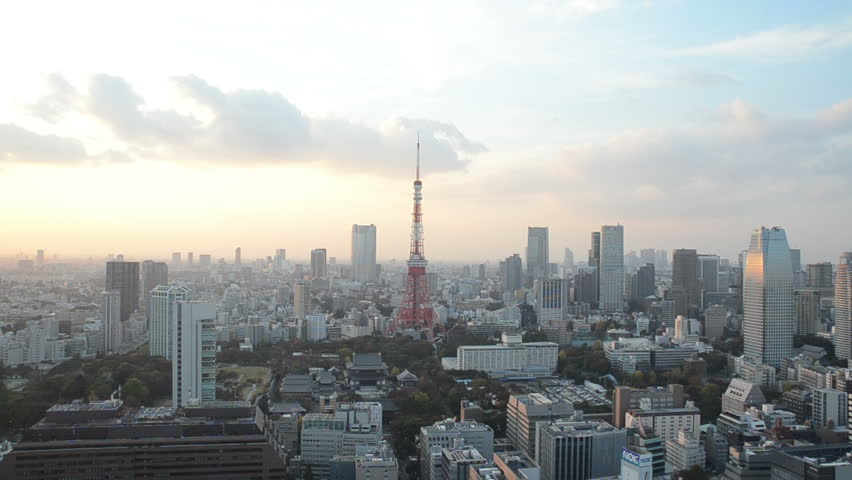 Timelapse tokyo tower and sunset sky in tokyo japan | Shutterstock HD Video #16099468