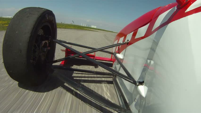 POV Formula car front view