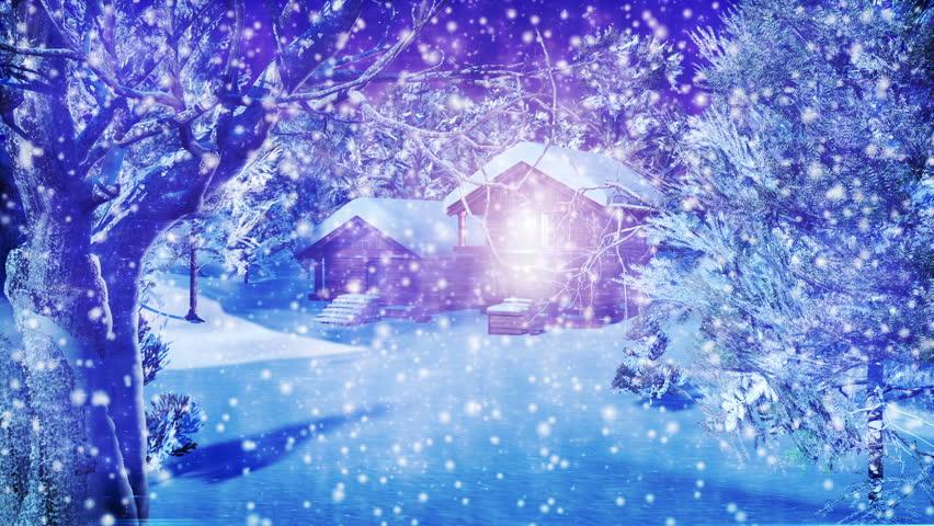 Christmas Snowy Scene 3D Animation Stock Footage Video 1613938 ...