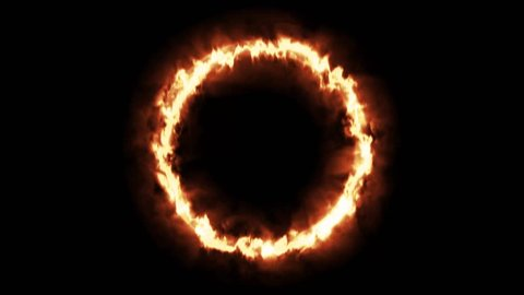 fire ring flame circle 4k animation