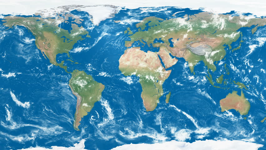 Full Earth Map.Full 4k Res Animation Of Stock Footage Video 100 Royalty Free