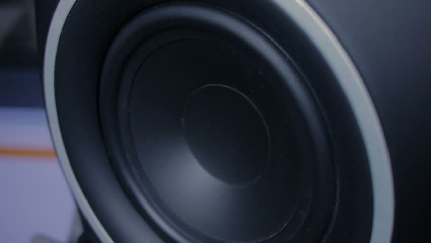 beats car speakers. large black speaker doing a bass test. - hd stock video clip beats car speakers