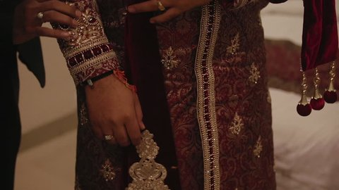 dress detail from Indian ceremony