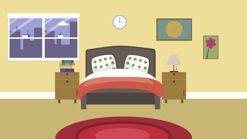 Cartoon Modern Colorful Bedroom Animation Stock Footage Video 100 Royalty Free 16272388 Shutterstock