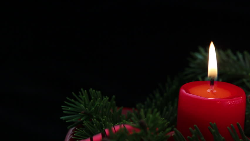 Camera Moves Slowly Across Advent Holiday Candles Stock