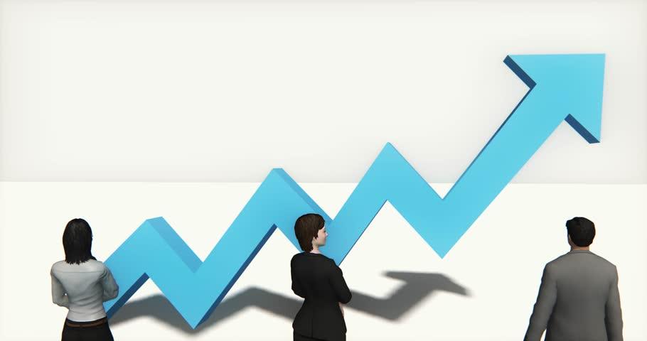 4k business team standing on the top of 3d blue positive trend arrow. cg_03413_4k   Shutterstock HD Video #16273948