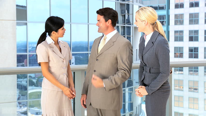 Multi Ethnic Male & Female Business Team   Shutterstock HD Video #1638148