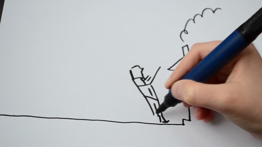 Line Drawing Algorithm Flowchart : Drawing program flowchart stock footage video shutterstock