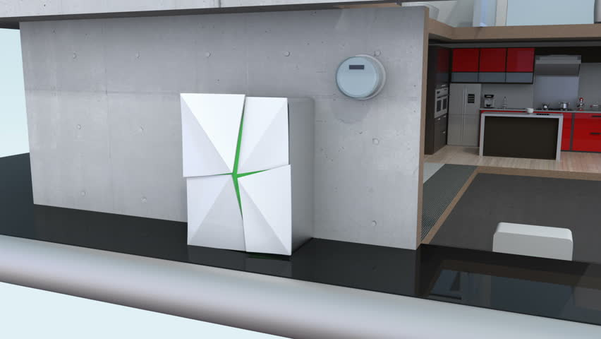 Smart House Phone 3dcg animation of smart house on smart phone. concept for home