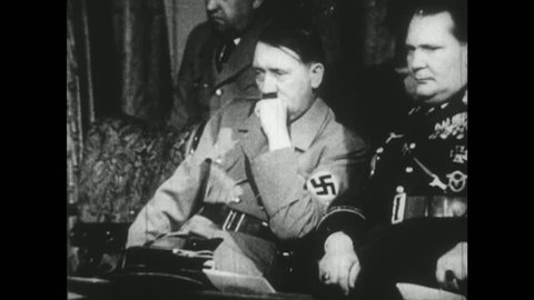 EUROPE 1940s: Hitler Watches Charlie Chaplin Play Tennis
