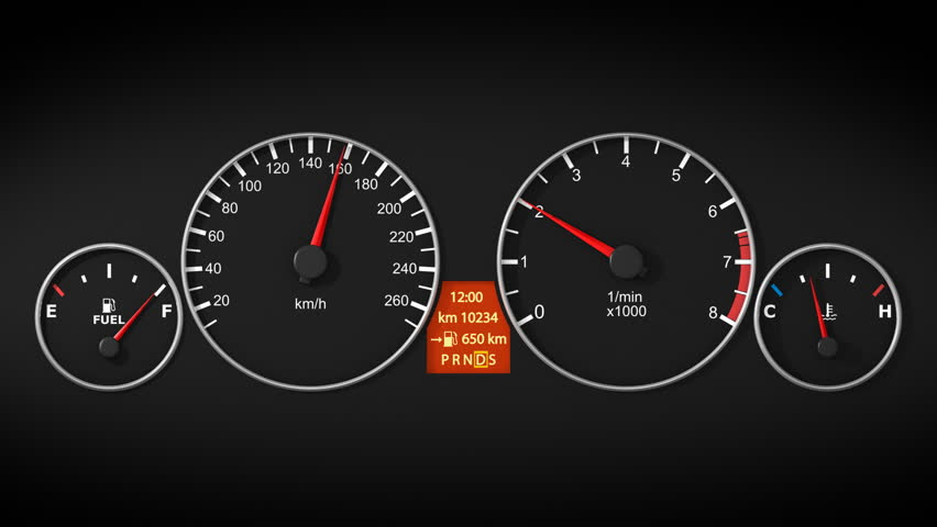 speedometer of a car dashboard at night auto stock footage video 20996371 shutterstock