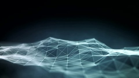 Abstract polygonal space low poly dark background with connecting dots and lines. Connection structure. Futuristic HUD background. Loop background.