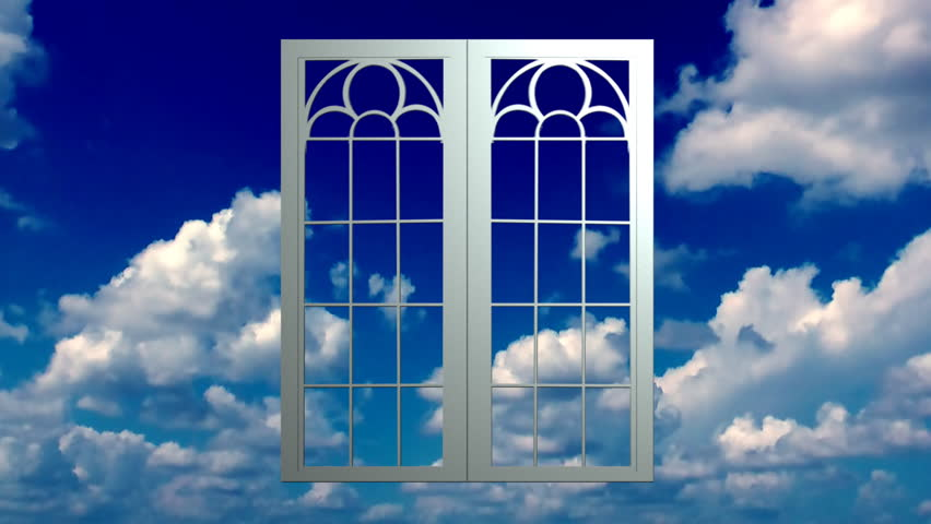 window opens to clouds