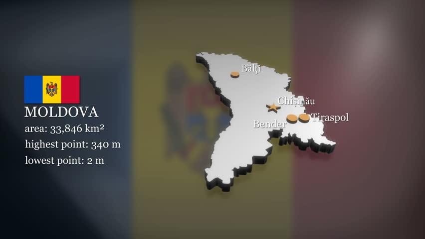 Moldova Flag Loop Stock Footage Video Shutterstock - Moldova interactive map