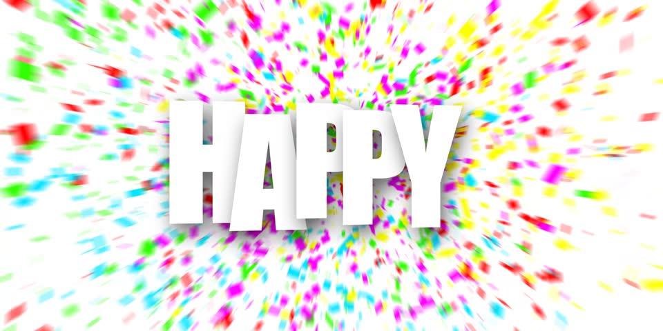 Happy Birthday, 3d Animation Stock Footage Video 3845606