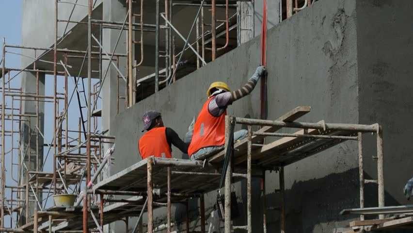 Plaster Wall Construction : Plaster stock footage video shutterstock