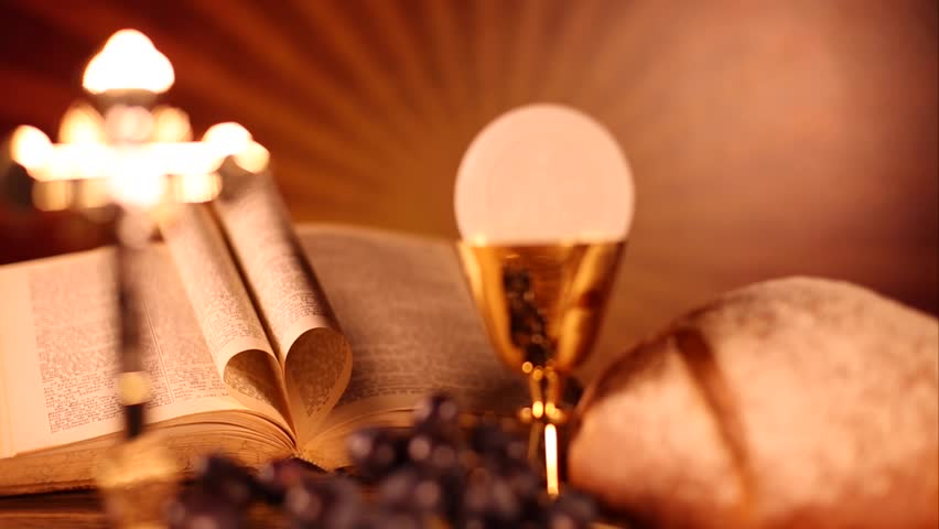 Holy Communion Bread Wine Stock Footage Video 100 Royalty Free