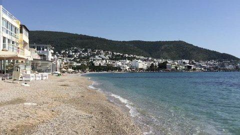 beach in bodrum town in Turkey