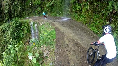 Biking the Death Road, the most dangerous road in the world, Bolivia