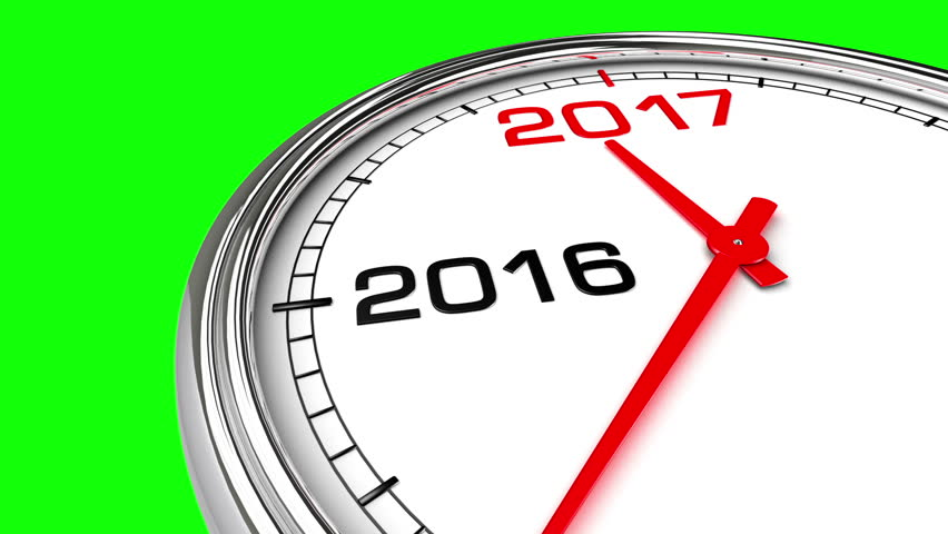 new year 2017 clock green stock footage video 100 royalty free 16839538 shutterstock