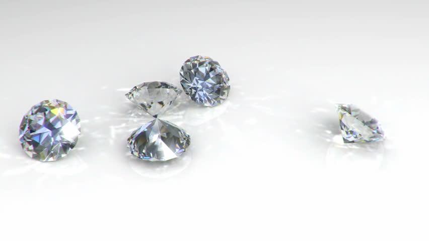 Diamonds falling on a white background | Shutterstock HD Video #1685248
