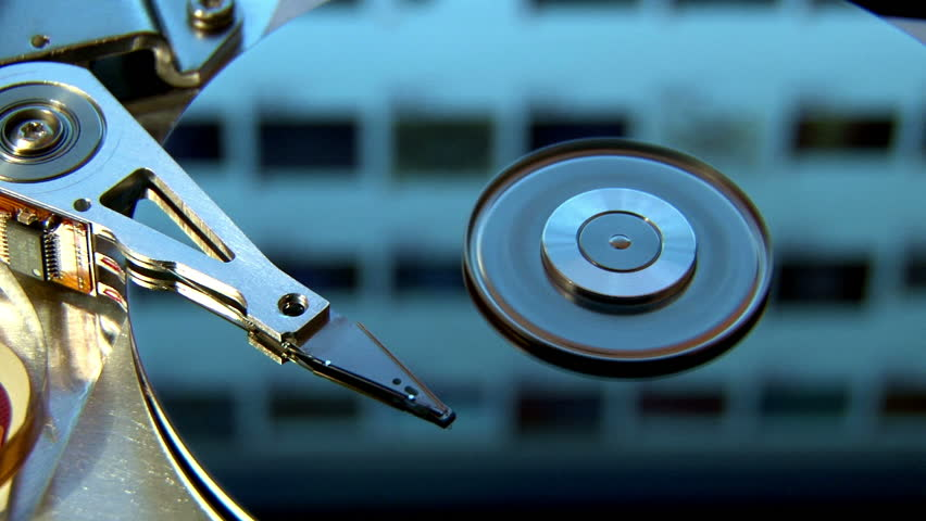 Hard Disk Drive, internet in reflection.