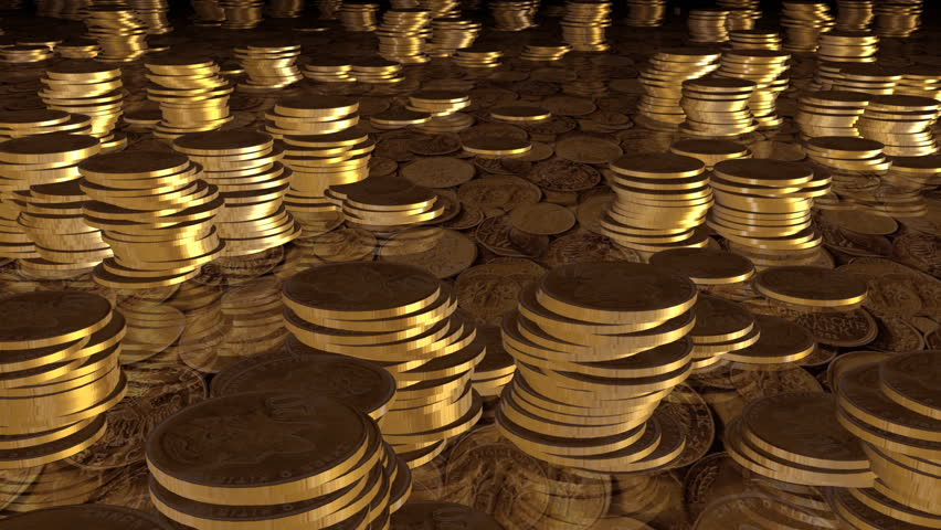 gold coins black background - photo #15