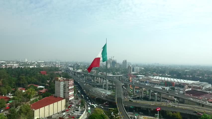 Mexico Flag drone | Shutterstock HD Video #16880638