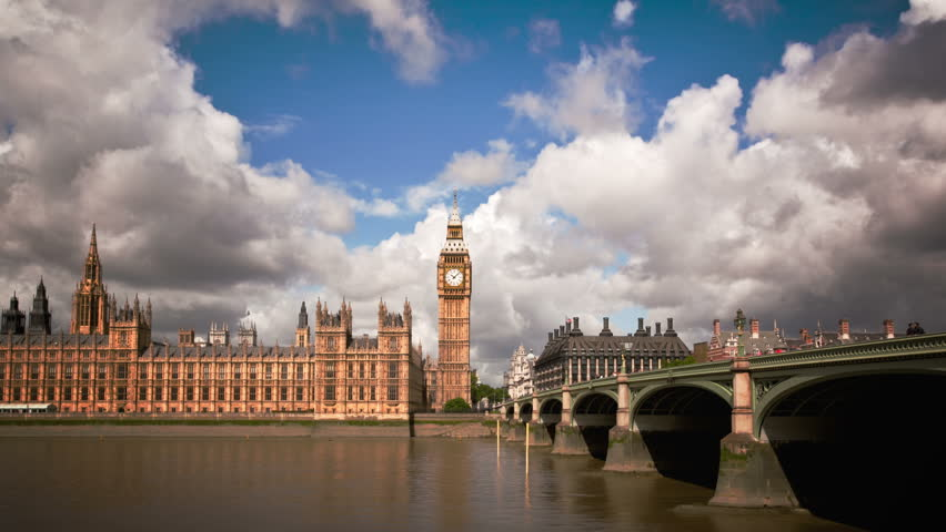 Big Ben, Houses Of Parliament, And London Bridge Time Lapse   HD Stock  Footage Part 77