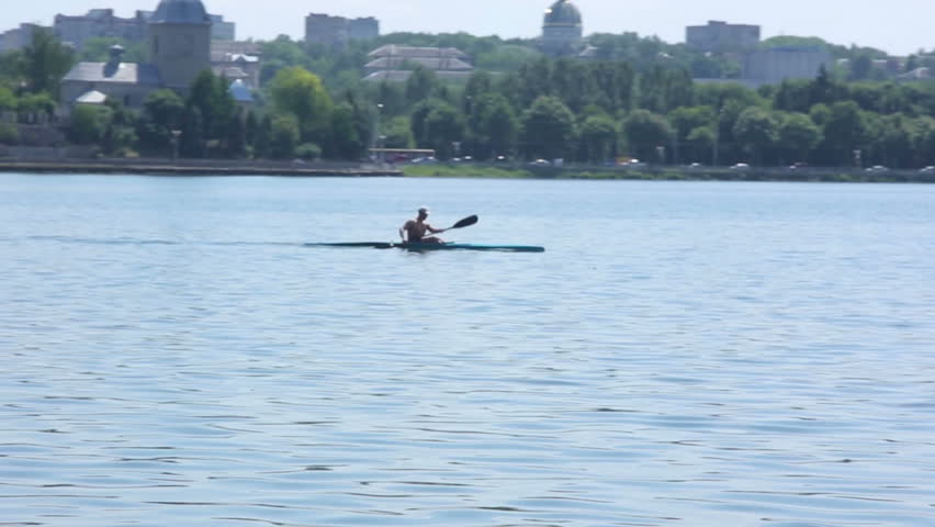Single scull rowing competitor | Shutterstock HD Video #16961488