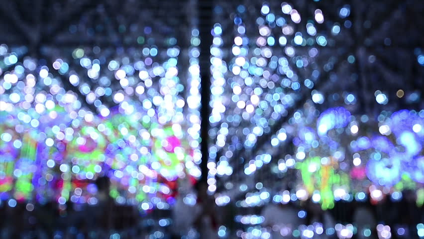 Blinking led light bokeh, abstract holiday decoration night background  | Shutterstock HD Video #16964068